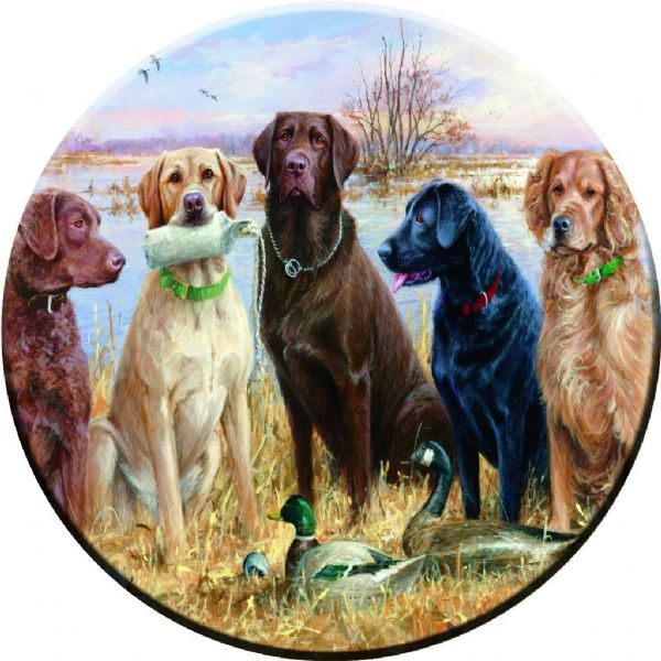 DOGS PAINTING 4x4 Spare Wheel Cover DECAL STICKER